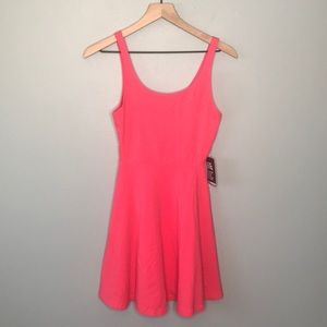 Express hot pink fit and flare dress size xs